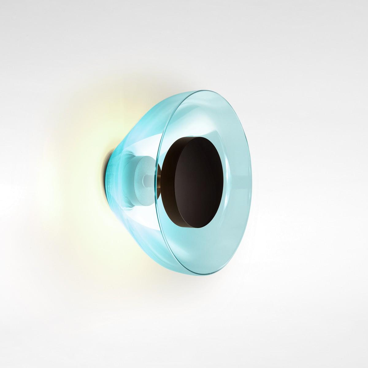 Marset Aura LED Wandleuchte, blau