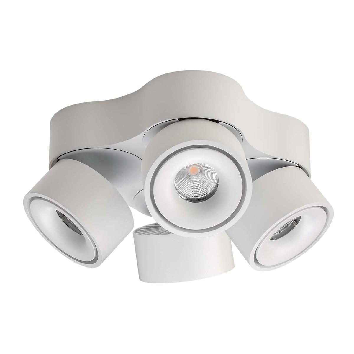 Lumexx Easy Quattro LED Deckenleuchte, weiß/schwarz