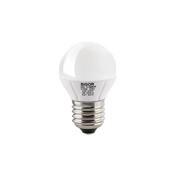 LED Globe E27 6,5 W, Ø: 8 cm