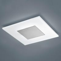 Helestra Vada LED Wand- / Deckenleuchte, 40 x 40 cm, Nickel matt