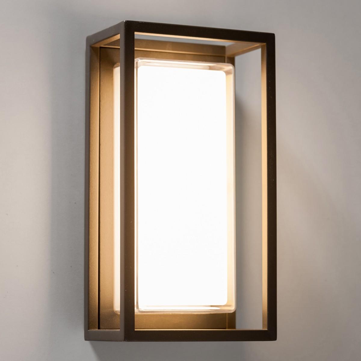 Lupia Licht Quadro W Außenwandleuchte, 15 x 28 cm, anthrazit