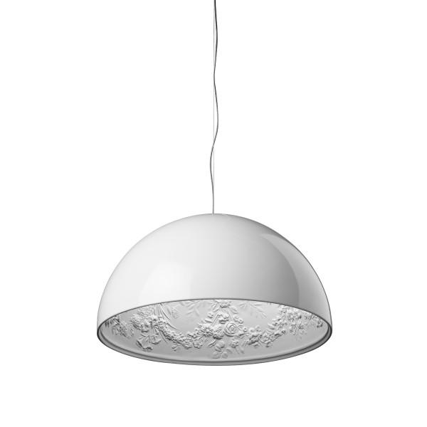 Flos Skygarden Pendelleuchte, Ø: 60 cm, weiß glänzend