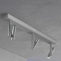 Stage Wand- / Deckenleuchte, Aluminium geschliffen, 3-flg.