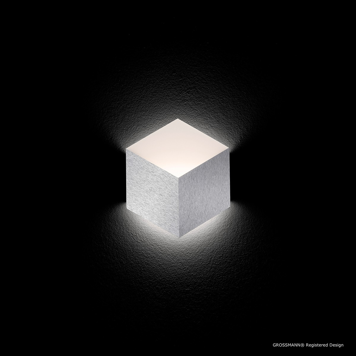 Grossmann Geo LED Wandleuchte, Aluminium gebürstet