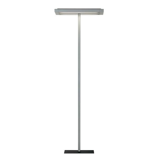 Belux Flat-10 Stehleuchte, Licht symmetrisch, Aluminium