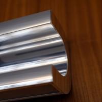 Ricurvo Wandleuchte, Länge: 175 cm, Aluminium poliert