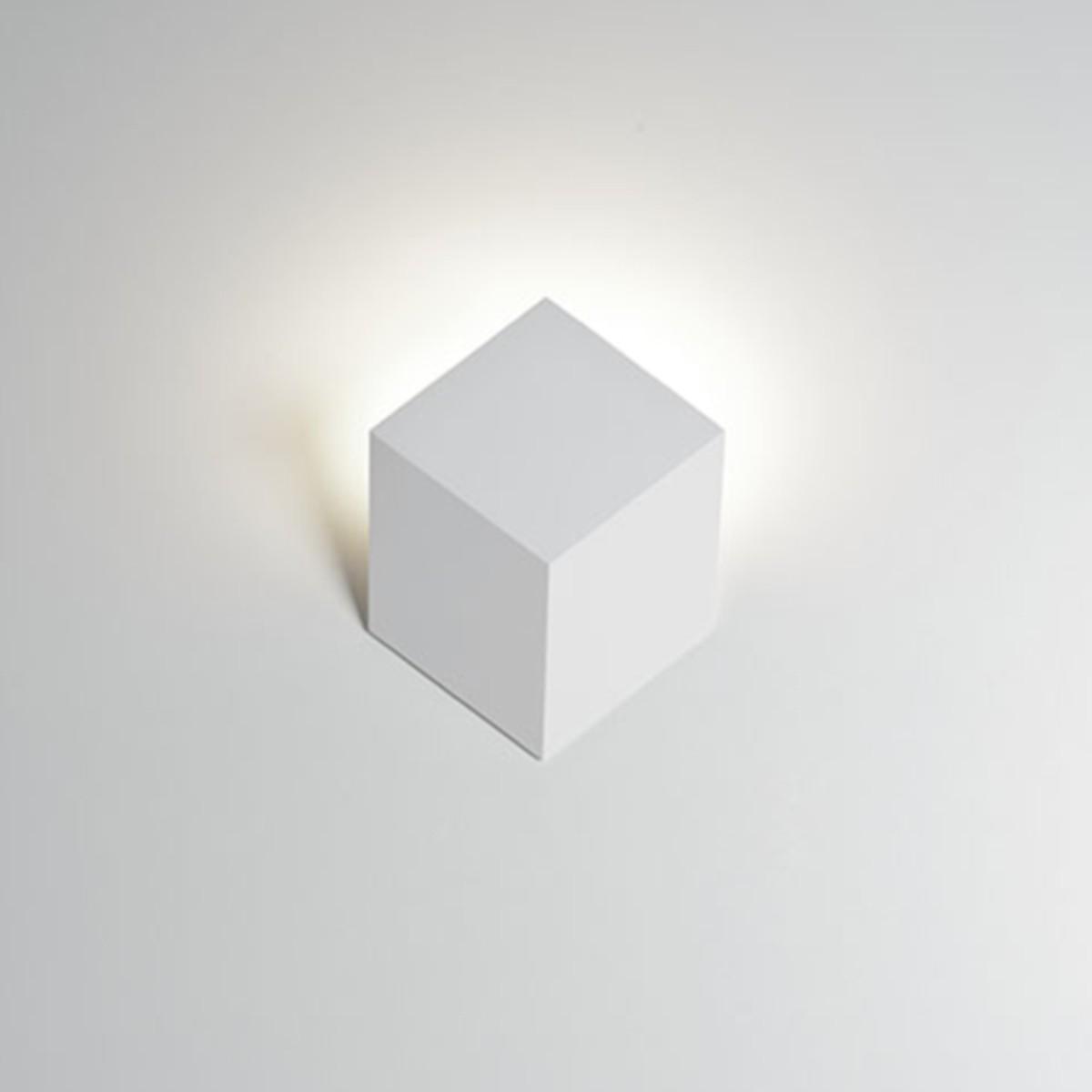 Rotaliana QB W0 LED Wandleuchte, weiß matt