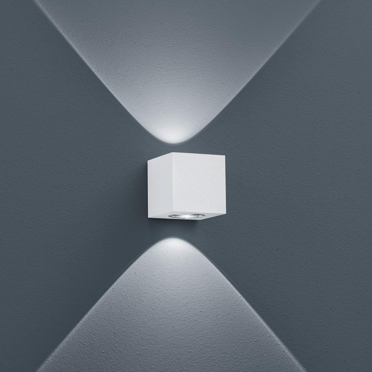 Helestra Peka LED Außenwandleuchte, weiß matt
