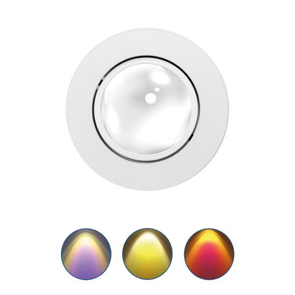 Mobilux MOBiDIM COB Color Einbaustrahler, Farbeffekte, weiß