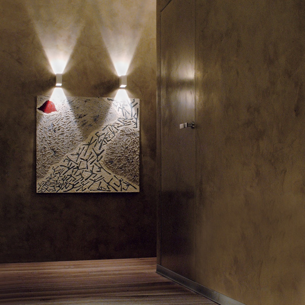 Studio Italia Design Laser Cube 10 x 6 LED Wandleuchte, 2700° K, weiß matt