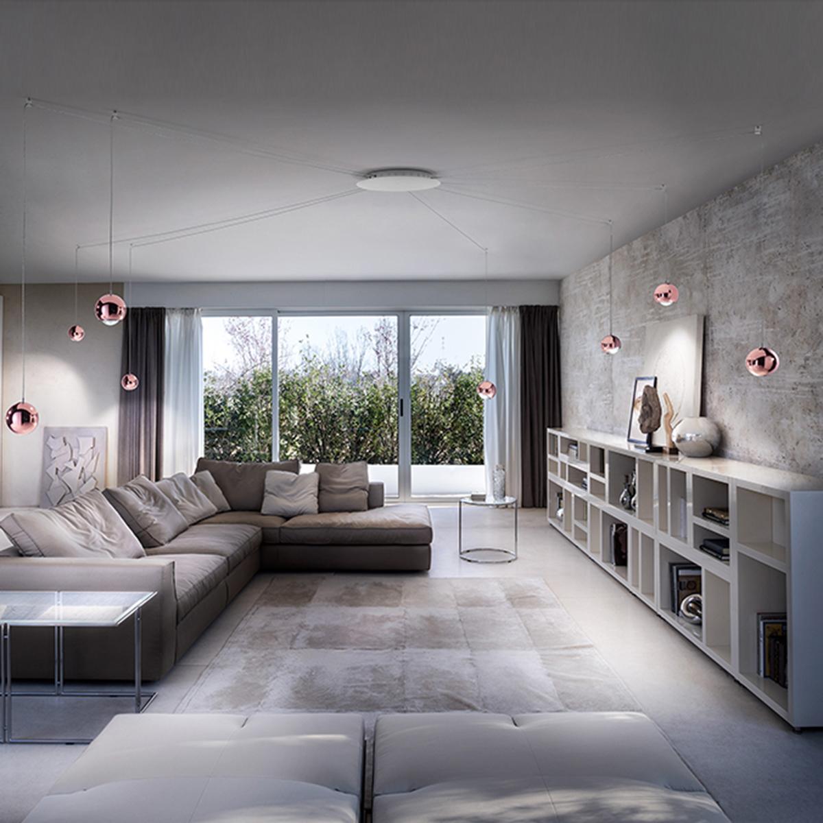 studio italia design spider pendelleuchte 8 flg. Black Bedroom Furniture Sets. Home Design Ideas