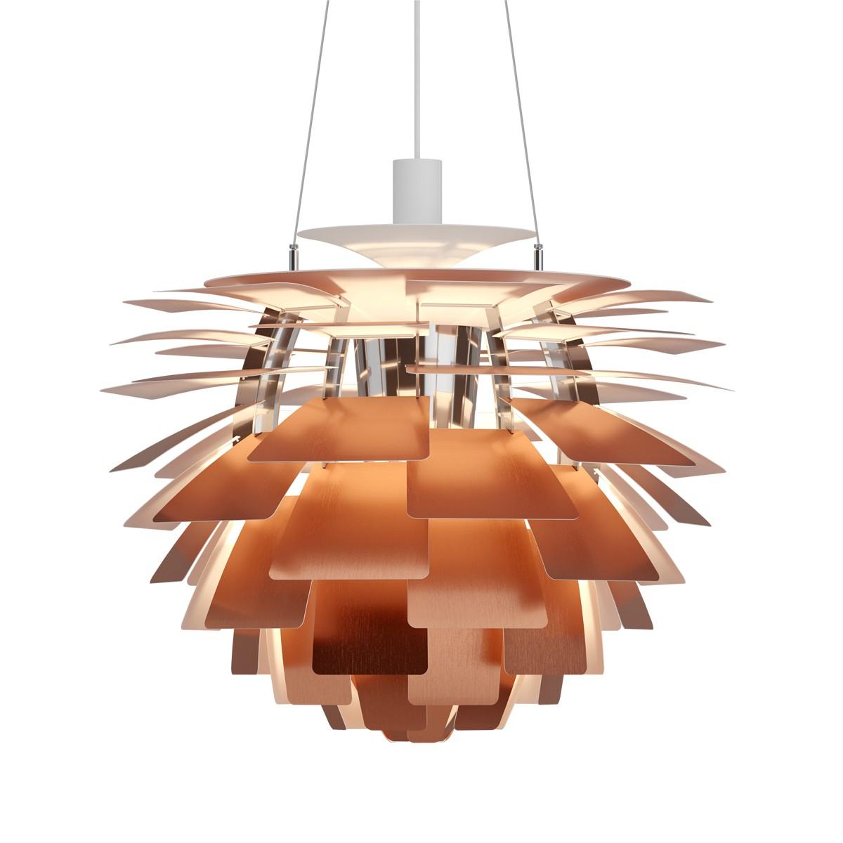 Louis Poulsen PH Artichoke LED Pendelleuchte, Ø: 60 cm, 2700 K, Kupfer