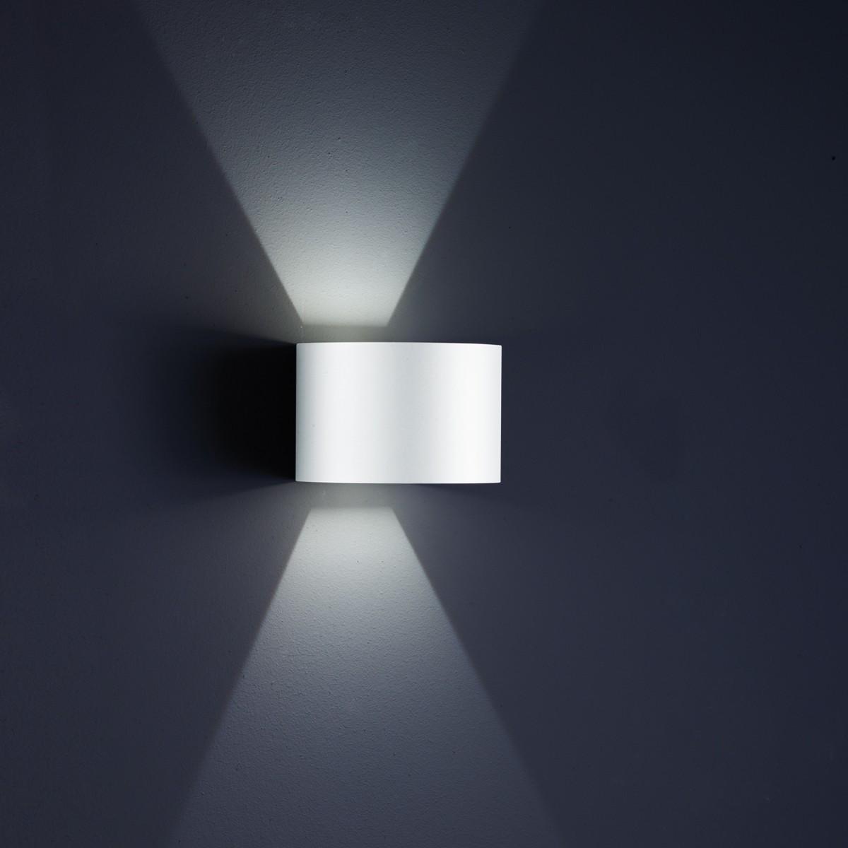 Helestra Siri 44 - R LED Außenwandleuchte, weiß matt