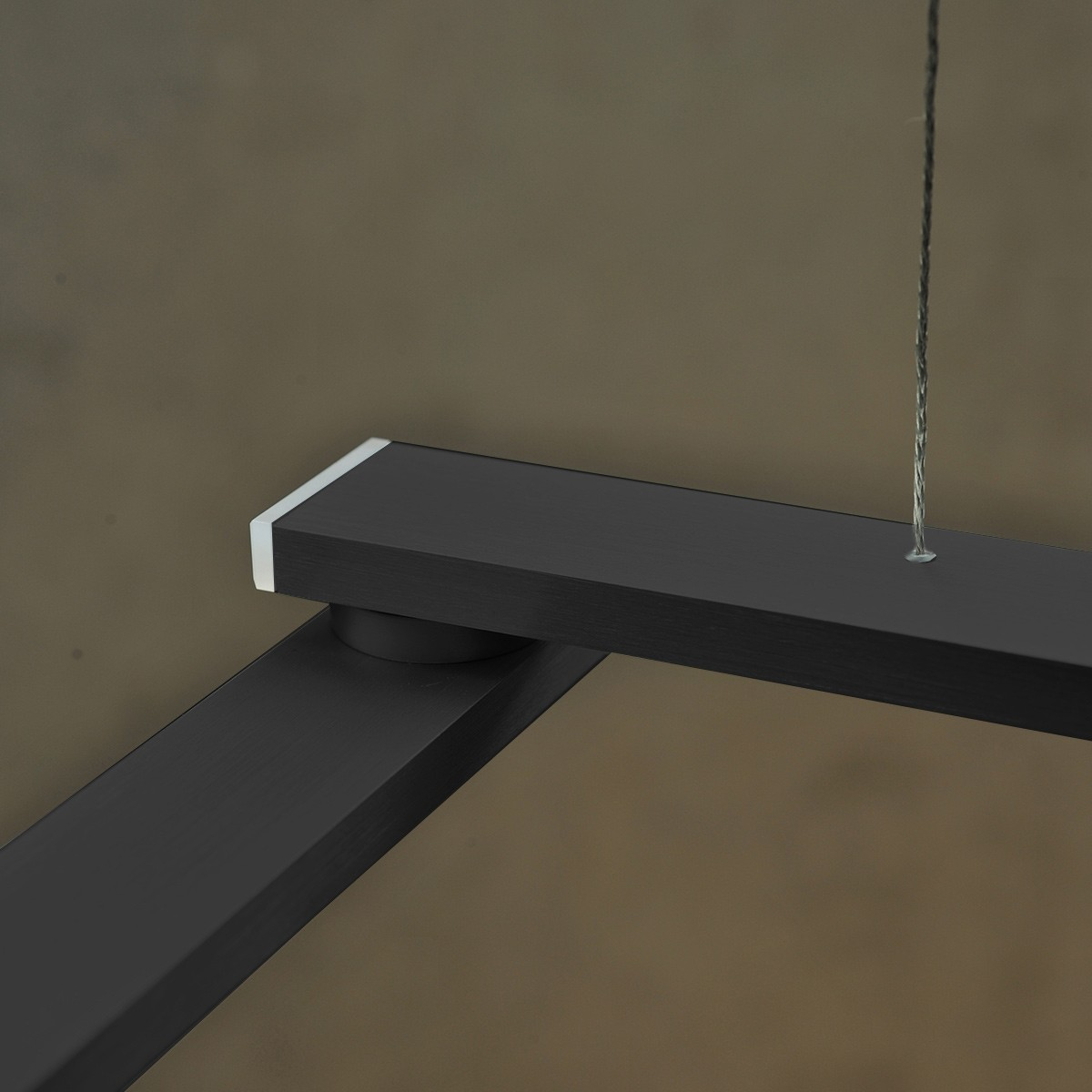 Byok Nastro Pendelleuchte, Aluminium Schwarz Matt, 10 X 3,2W Led