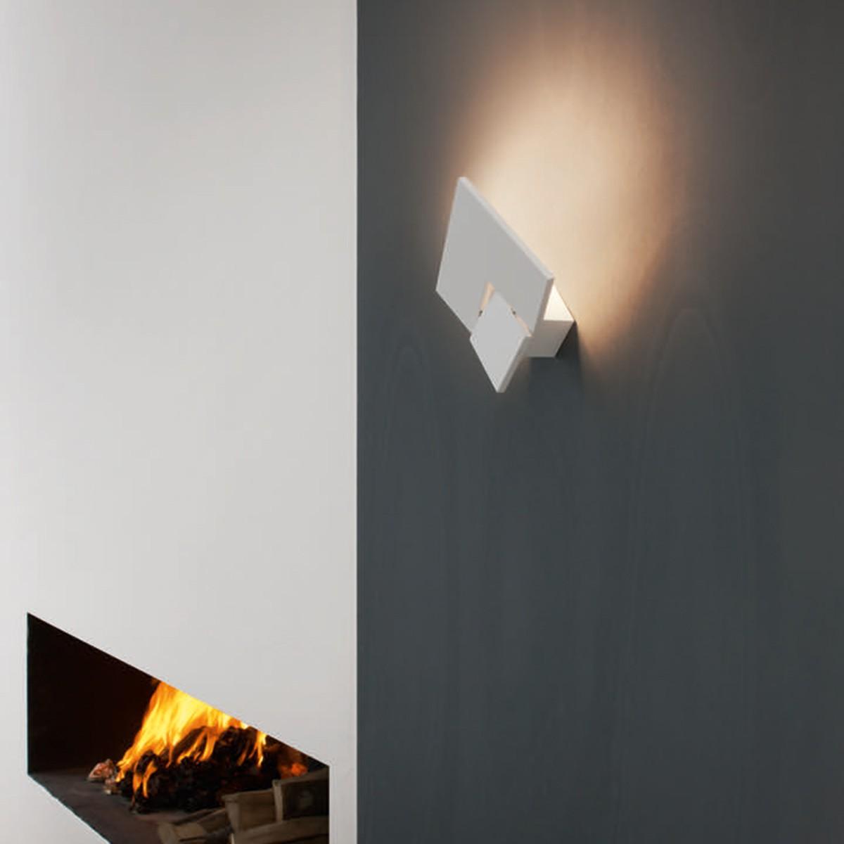 Studio Italia Design Puzzle Twist Wandleuchte, weiß matt, 2700° K