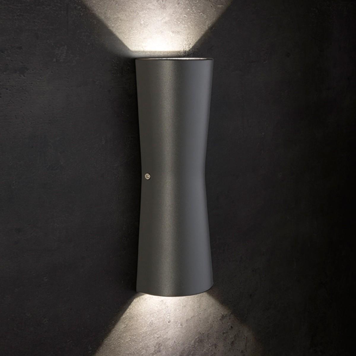 Lupia Licht Kavia Außenwandleuchte, anthrazit