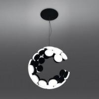 Artemide Design Scopas LED Sospensione App kompatibel, schwarz / weiß