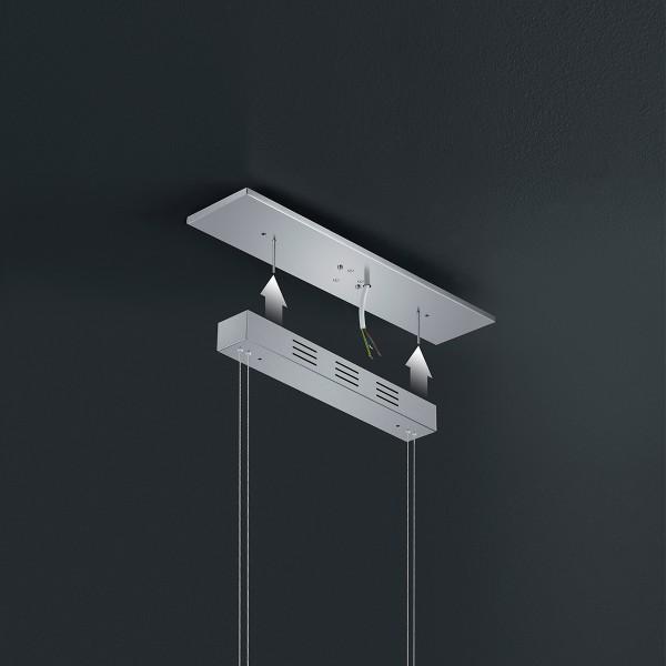 Bankamp 360° Modul, klein (52 x 12 x 3 cm), für Montage Variante A