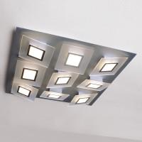 Bopp Frame LED Deckenleuchte 9-flg. Aluminium