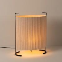 Milan Amid Tisch- / Steh- / Bodenleuchte, Höhe: 78 cm, beige / schwarz matt