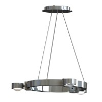 Top Light Puk Crown S Pendelleuchte, Chrom, ausgestattet mit Glas satiniert / Linse klar