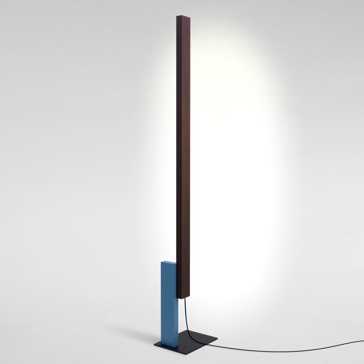 Marset High Line LED Stehleuchte, Wenge / blau