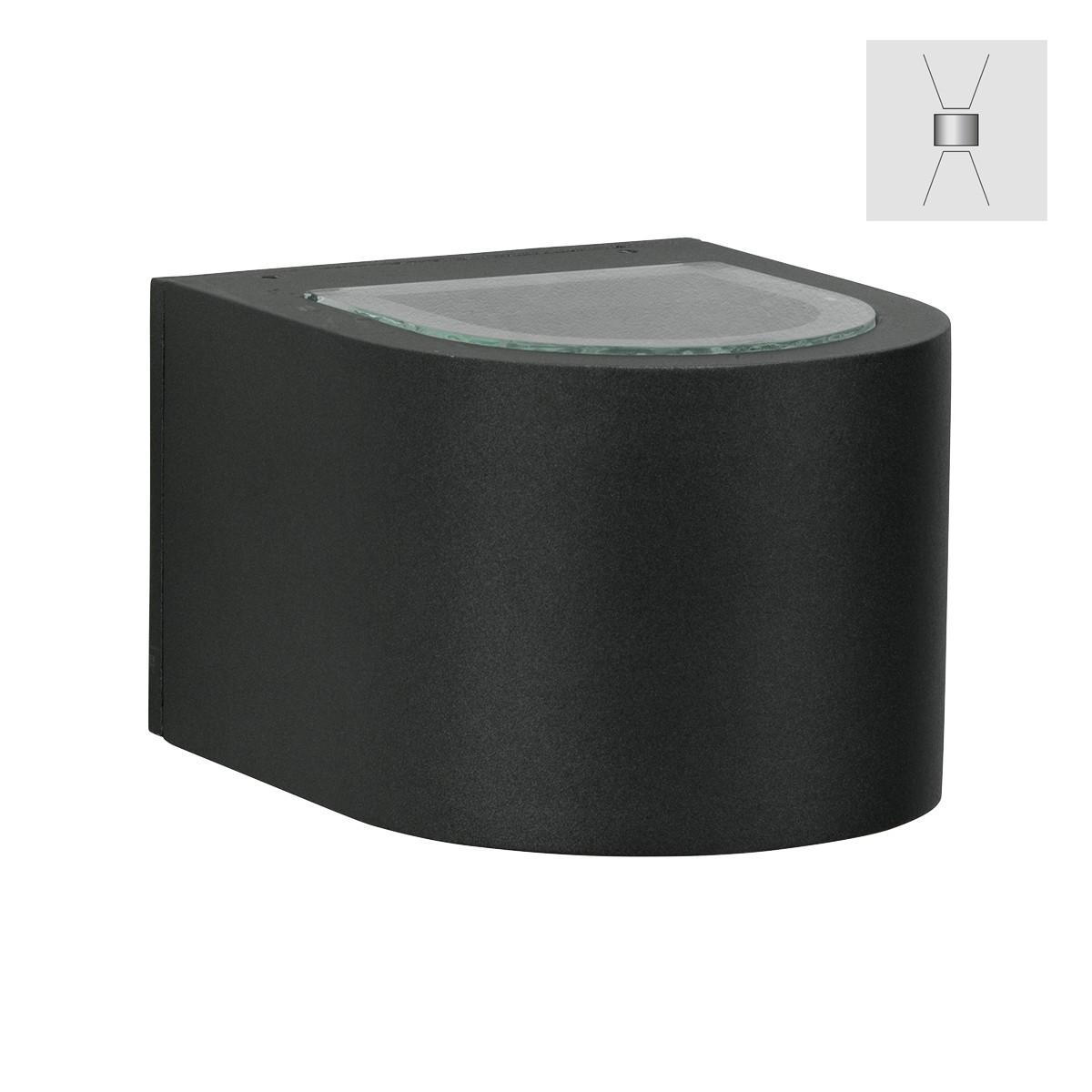 Albert 2340 Wandstrahler, breit/breit, schwarz