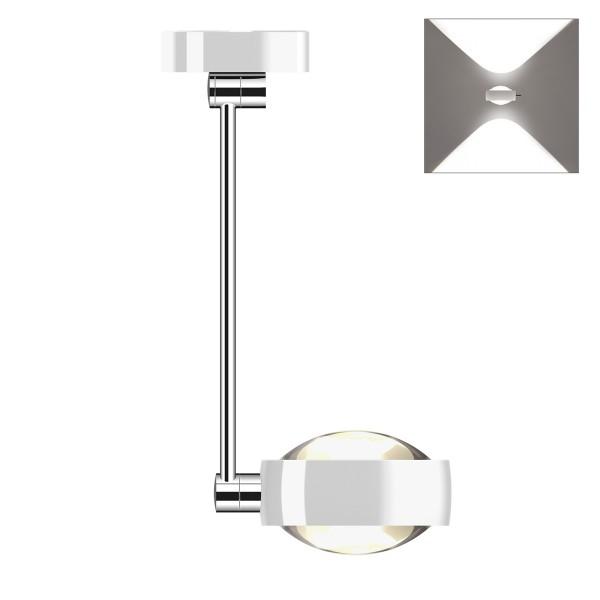 Occhio Sento D LED soffitto singolo up, 40 cm, Chrom / weiß glänzend