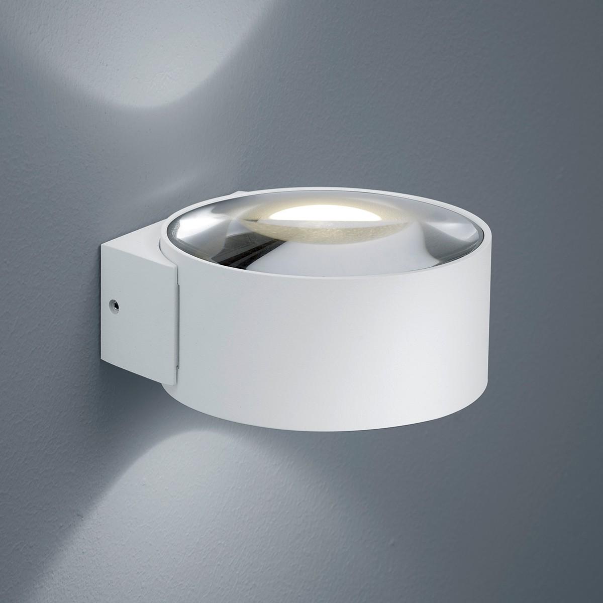 Helestra Flow LED Außenwandleuchte, weiß matt