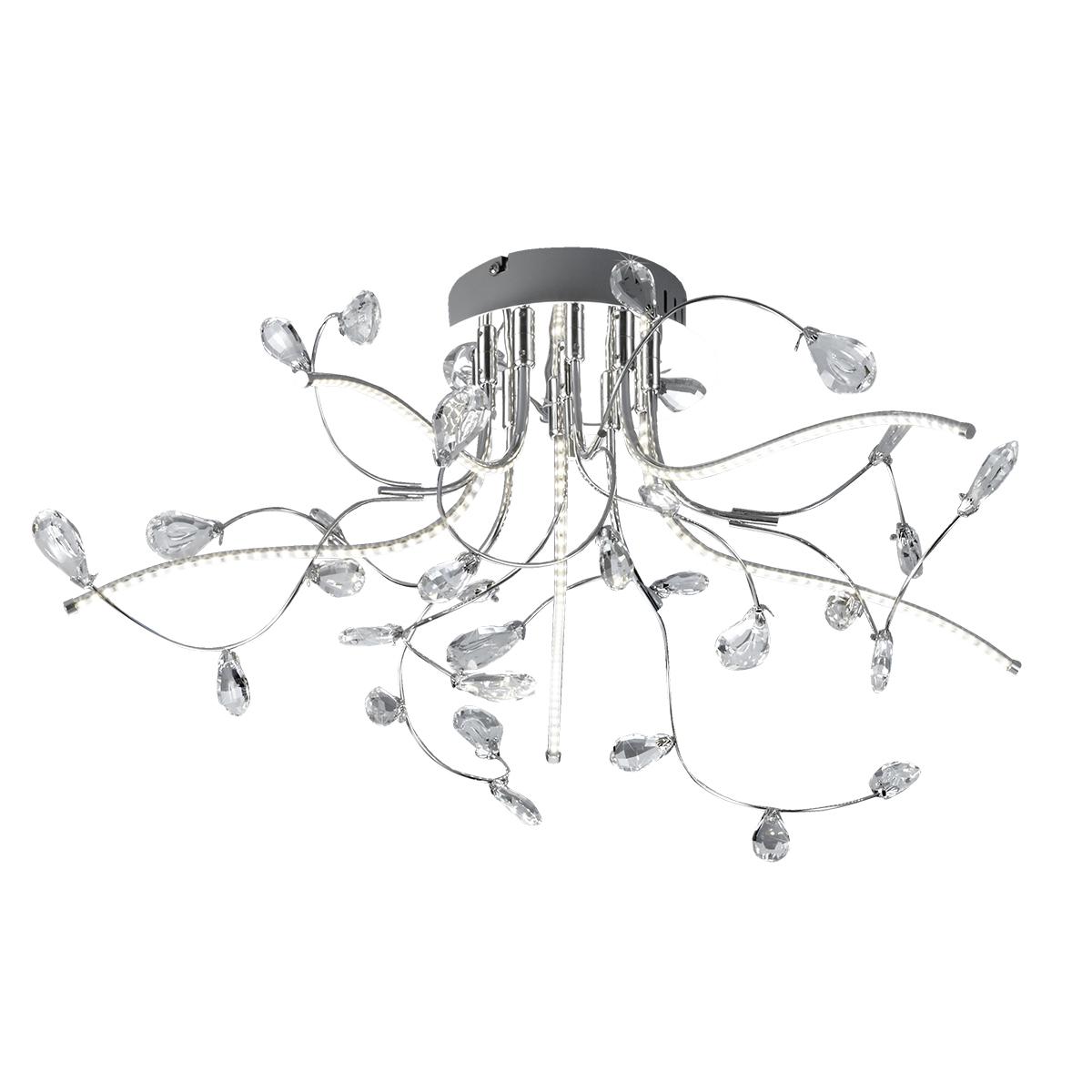 B-Leuchten Crystal LED Deckenleuchte, Ø: 54 cm 70326/540-02