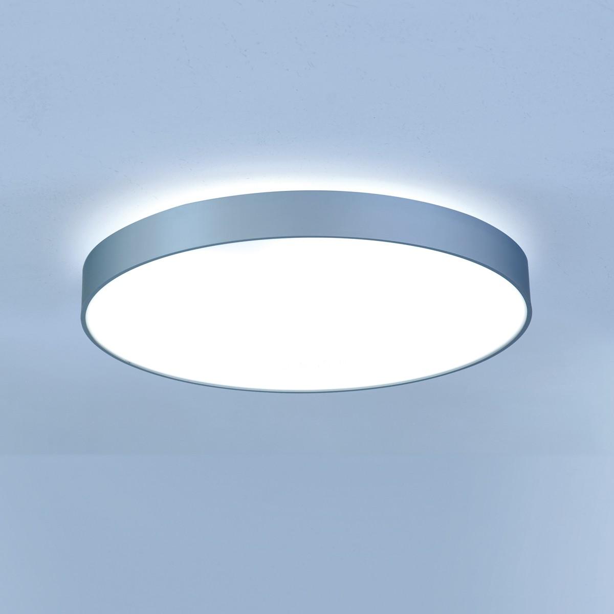 Lightnet Basic-X1 Deckenleuchte, Mikroprismatik, Ø: 30 cm, Silber matt