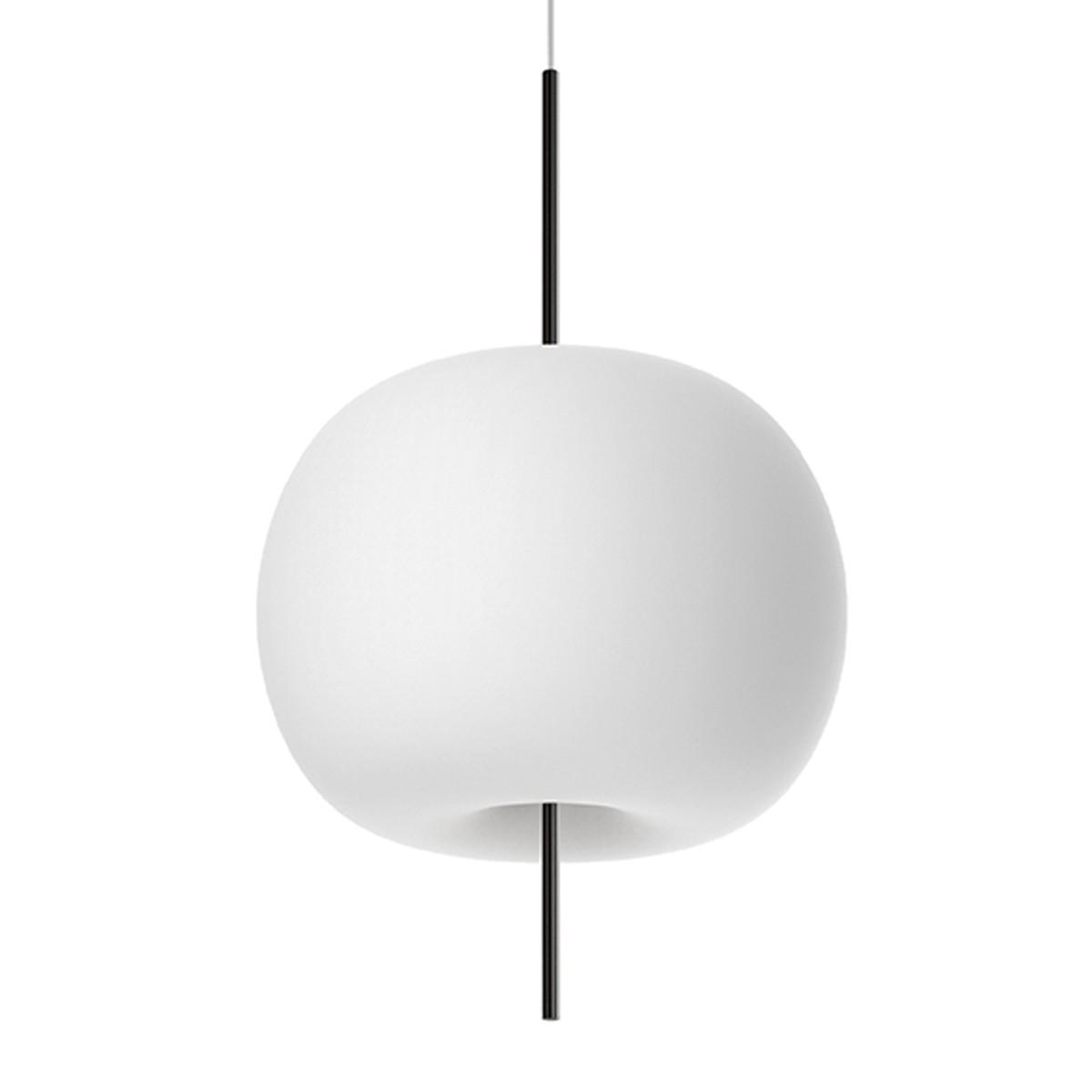 Kundalini Kushi 33 LED Pendelleuchte, opalweiß / schwarz
