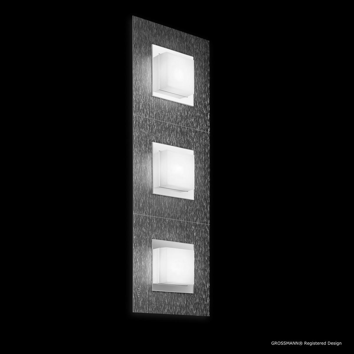 Grossmann Basic Wand- / Deckenleuchte 3-flg., anthrazit