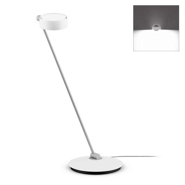 Occhio Sento B LED tavolo Tischleuchte, 80 cm, Chrom / weiß glänzend (Ausrichtung rechts)