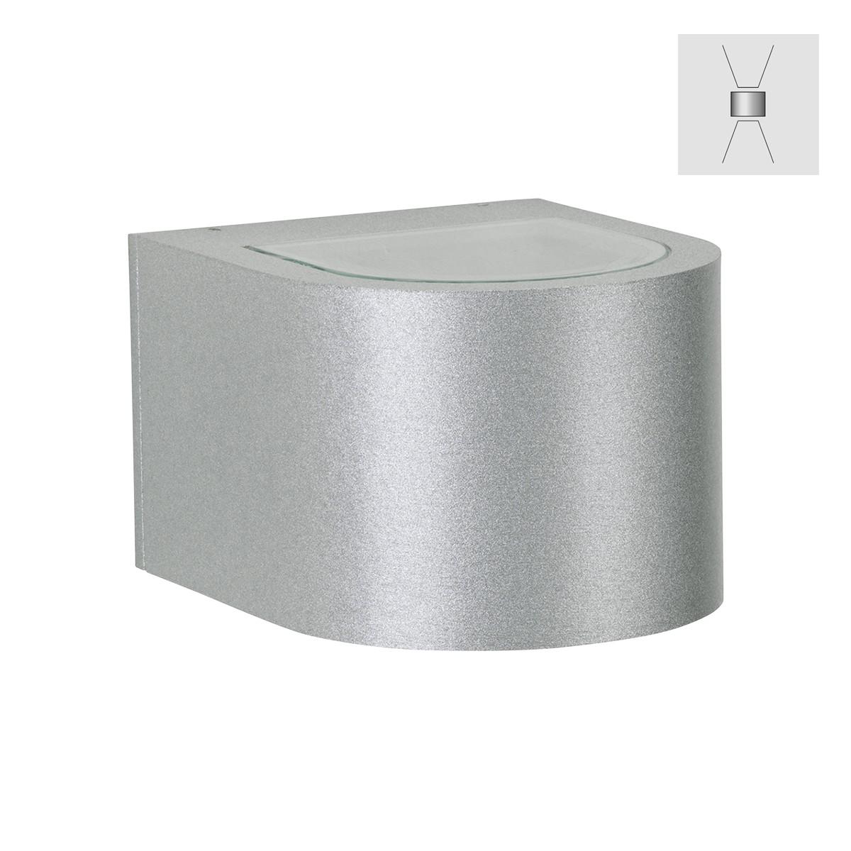 Albert 2340 Wandstrahler, breit/breit, Silber