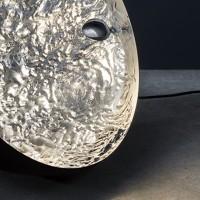 Stchu-Moon 01 Bodenleuchte, Ø: 60 cm, schwarz / Silber