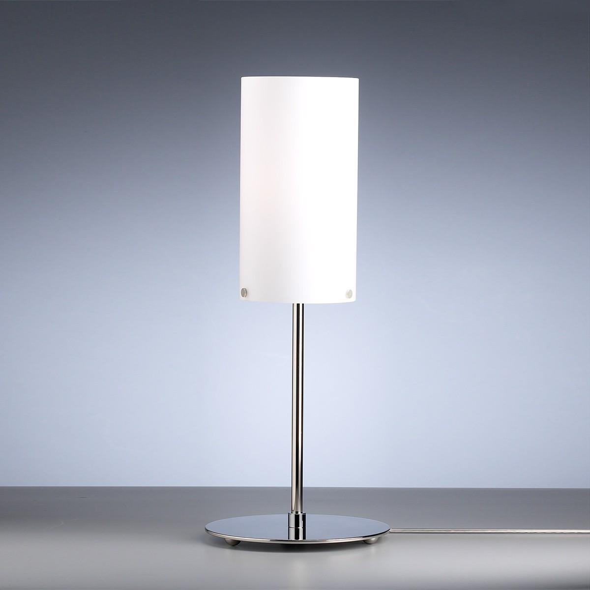 Tecnolumen TLWS 04 Tischleuchte, Gestell: Nickel, Glas: opalüberfangen