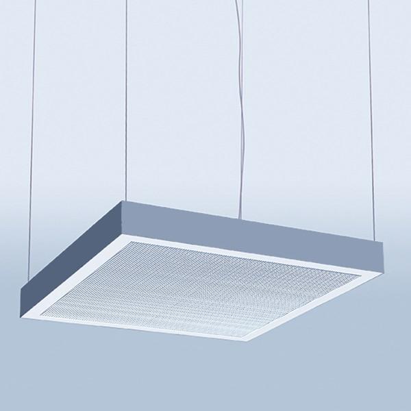 Lightnet Matric Ready Square Acoustic-R4 Pendelleuchte, Alu natureloxiert