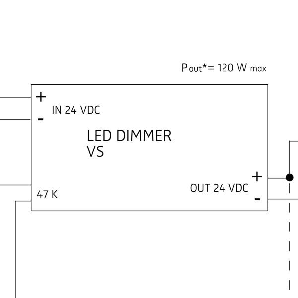 Nimbus 24 V PWM Dimmeinheit, max. 120 W, mit Drehpotiometer