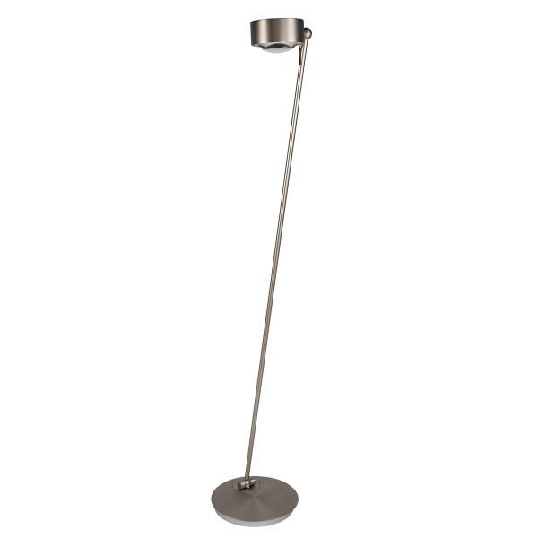 Top Light Puk Maxx Floor Mini Stehleuchte, Nickel matt, Glas satiniert / Linse klar