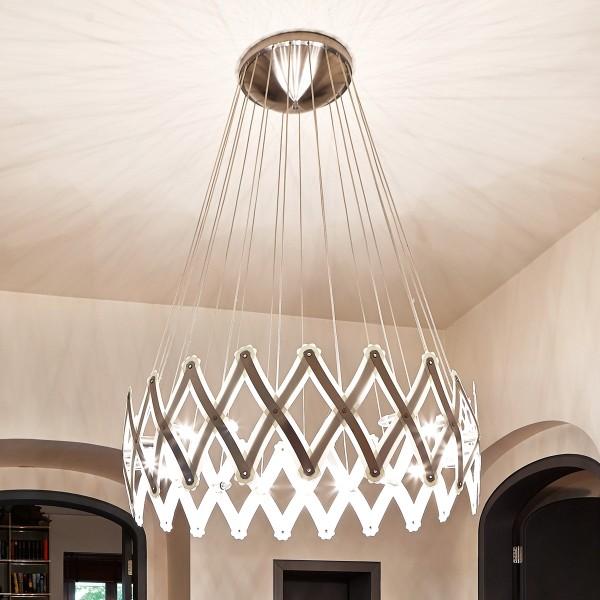 Serien.lighting Zoom XL, 1 Element Ø: 40–260 cm, 20 x 28 W