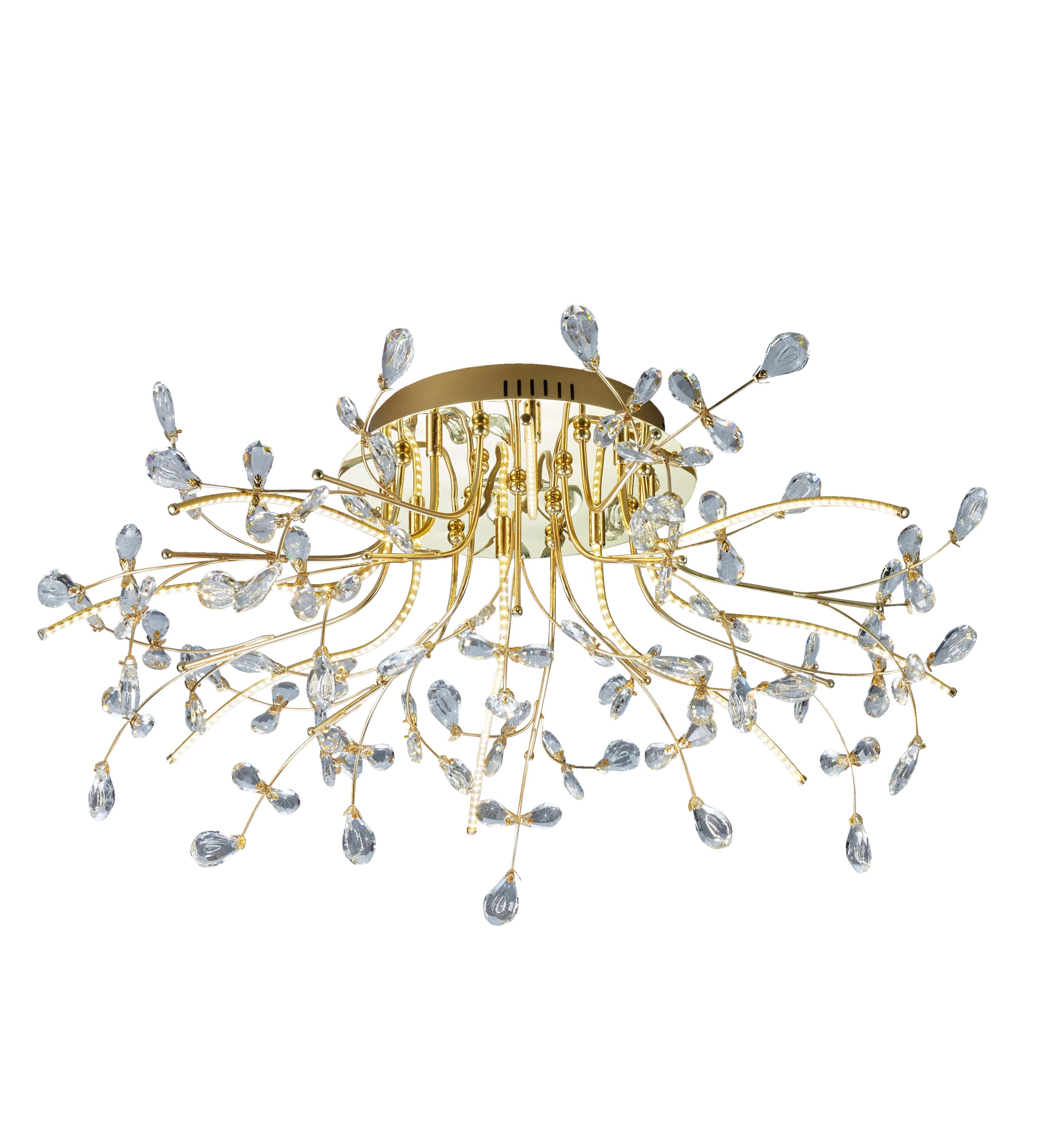 B-Leuchten Crystal LED Deckenleuchte, Ø: 77 cm 70327/770-40