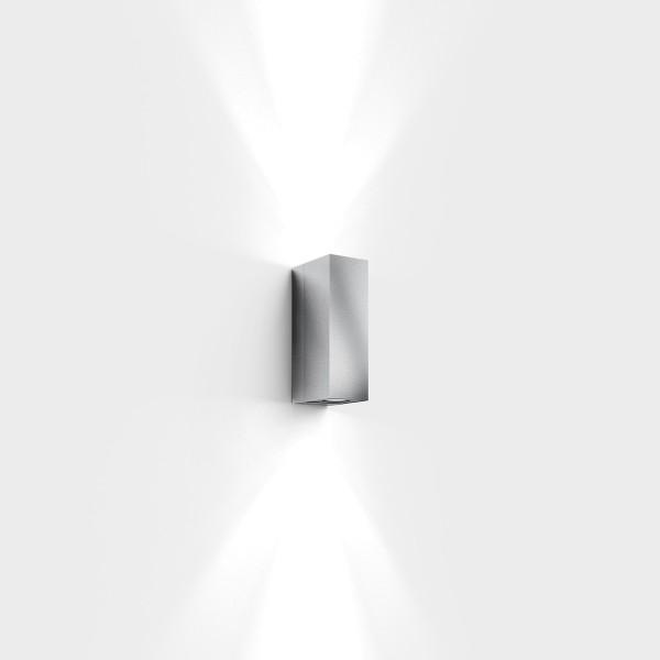 IP44.de Quantum Außenwandleuchte, Edelstahl gebürstet