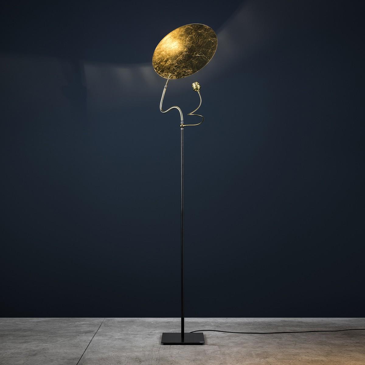 Catellani & Smith Luce d'Oro F Stehleuchte, Ø: 50 cm, Gold