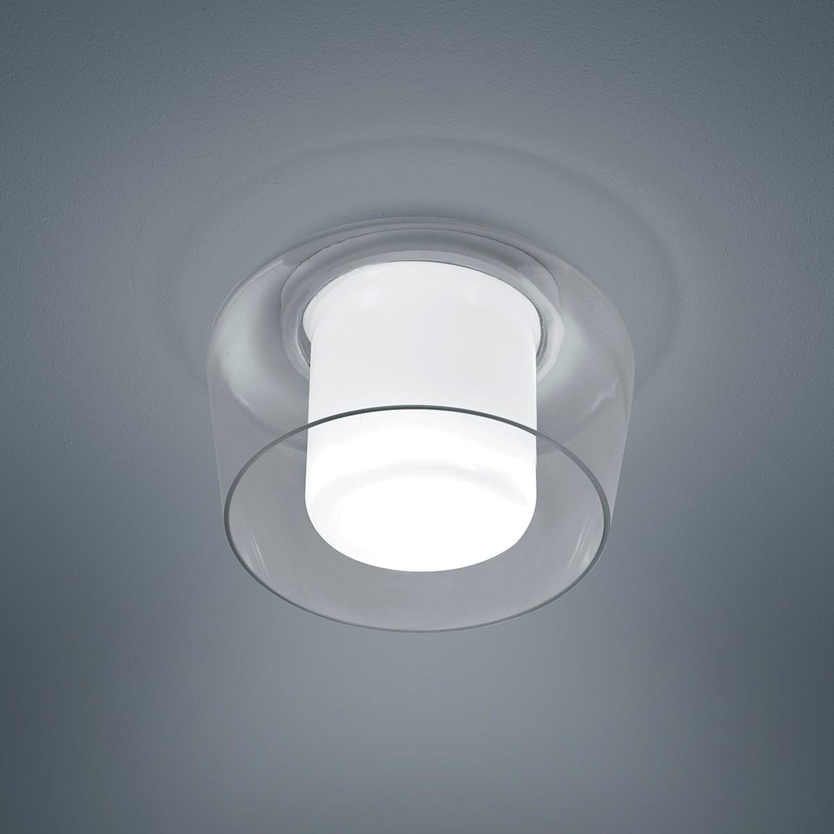 Helestra Canio Deckenleuchte, Glas opalweiß / klar