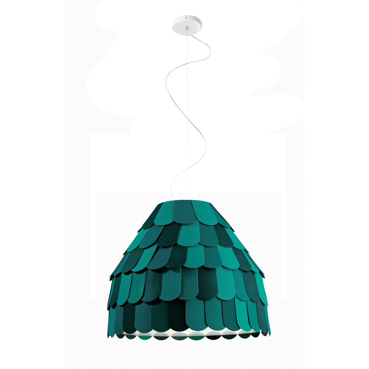 Fabbian Roofer Pendelleuchte A01, grün