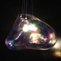 Bolla Pendelleuchte, Breite: 51 cm, Glas transparent