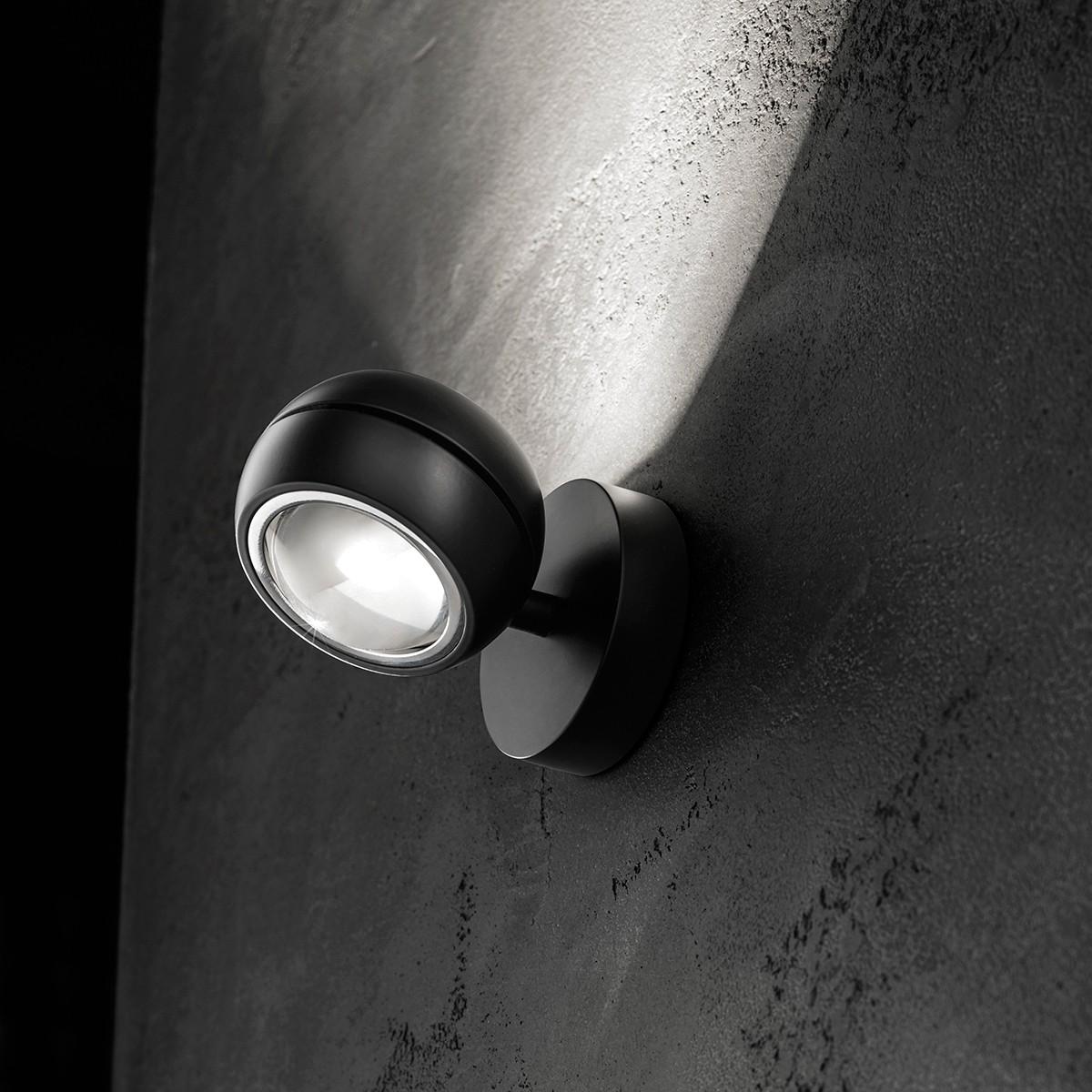 Studio Italia Design Nautilus Mini LED Wandleuchte, 2700 °K, schwarz matt