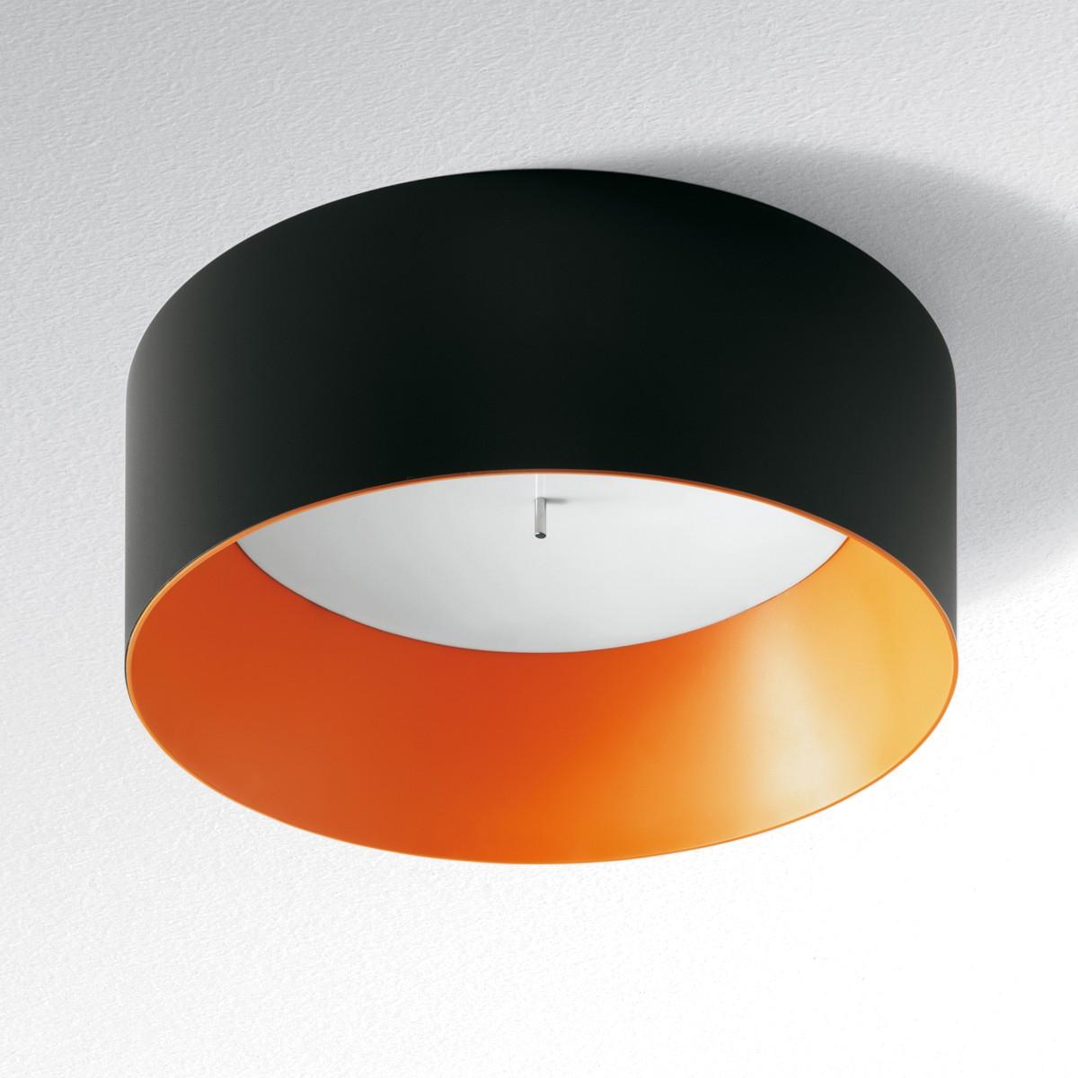 Artemide Architectural Tagora 570 Deckenleuchte LED, schwarz - orange, dimmbar