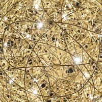 Fil de Fer Wand-/Deckenleuchte, Ø: 30 cm, Gold